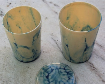 2 Linga Ware, Bandista Nesting Beakers - Made in England - from the 1930s