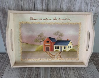 Home Is Where The Heart is Decorative Tray