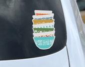 Pyrex Stack - Car Window Sticker, Vintage Pyrex, Rare Pyrex