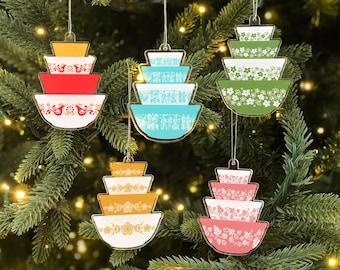 Pyrex Christmas Ornaments