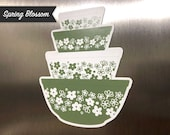 IMPERFECT - Pyrex Mixing Bowl Stack Magnet - Spring Blossom