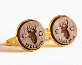 Men/'s Jewellery Antler Cufflinks Sleeve Buttons Handmade Cuff links Turquoise Deer Antler Cuff Links Rustic Wedding Woodland Wedding