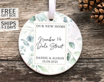 Personalised First Home Ornament, Ceramic Keepsake, New House Keepsake, First Christmas in New House Decoration