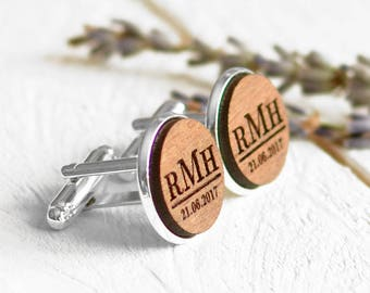 Groomsmen Gifts Mens Cufflinks Custom Engraved Cufflinks Wedding Cufflinks Initials Personalized Cufflinks Monogrammed Cufflinks