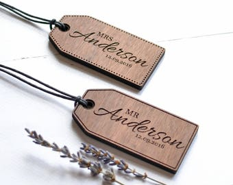 Engraved Luggage Tag Gift for Him Gift for Her PAIR- Leatherette Custom Monogram Luggage Tag Set Personalized luggage tag,Luggage Tag