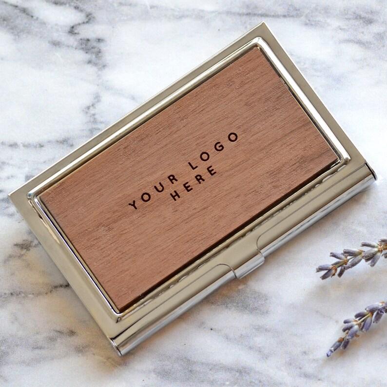 Personalised Business Card Holder, Custom Executive Gift, Business Card  Case, Boss Gift, Corporate Gift, Secret Santa Idea