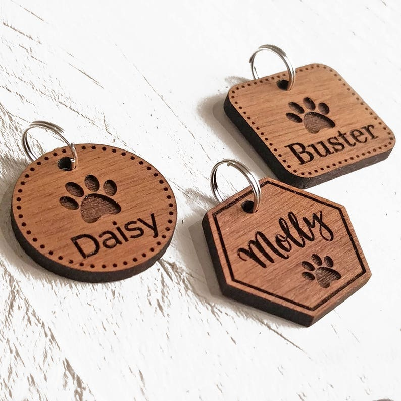 Pet Tags Dog ID Tag  Custom Engraved Personalised Pet Tag Cat image 0