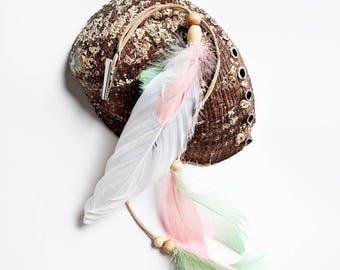 Hair feather, feathered hair clip, beach wedding, boho accessories, hair clips, hair accessories, boho hair, feathers, beach hair
