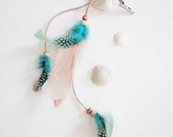 Hair feathers, beach hair, beach wedding, boho hair, feather clip, bohemian, feathered hair clip, feather extension, gypsy girl