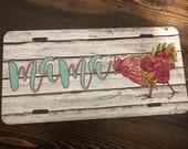 Mama Hen Monogram License Plate