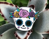 Sugar Skull with Flower Crown - Hard Enamel Pin