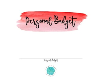 Budget Printable, Budget Insert for Planner, Monthly Budget Planner, Personal Budget, Financial Budget, Debt Payoff, Expense Tracker, Budget