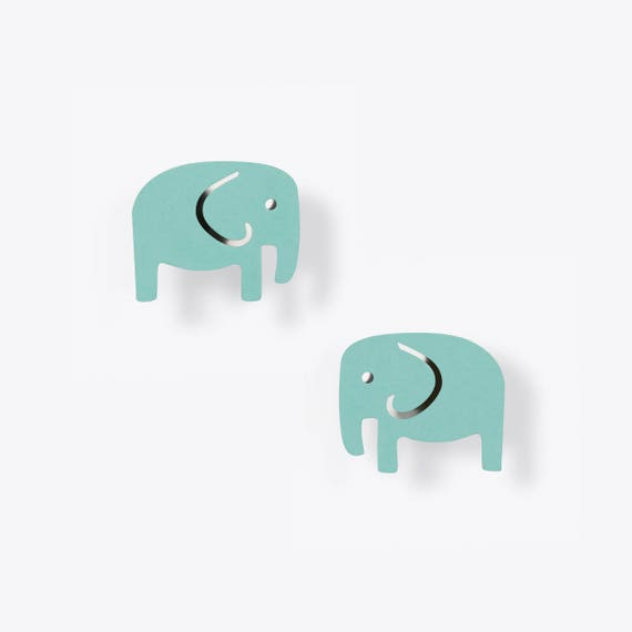 Modern Elephant Earrings