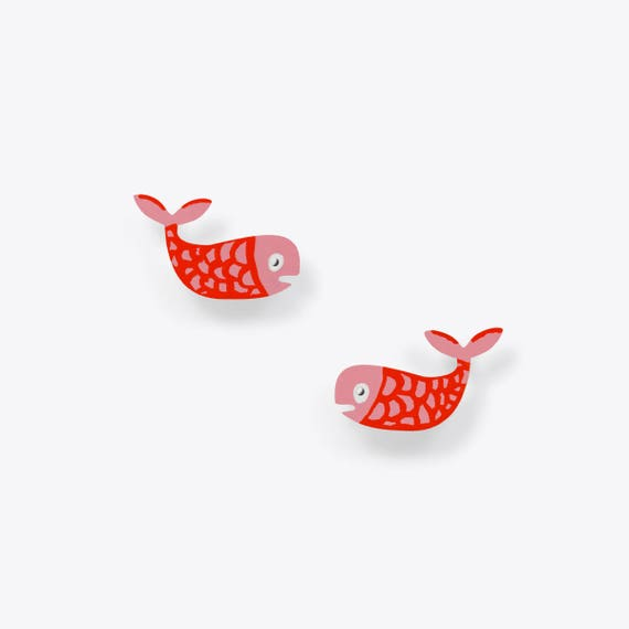 As Happy as a Fish in the Water Earrings