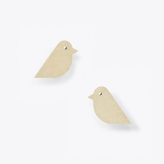 Modern Birch Stud Earrings