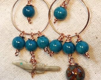 Roadrunner earrings, roadrunner pendant, roadrunner jewelry, bird earrings, roadrunner charm, bird fetish, fetish charm, fetish earrings