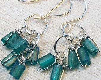 Aqua earrings, tiny earrings, small earrings, aqua blue, blue earrings, aqua blue earrings, dainty earrings, minimalist earrings