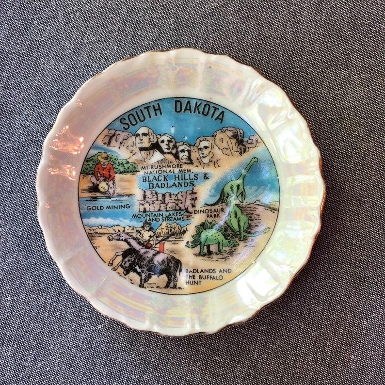 South Dakota Souvenir mini plate