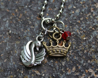 Swan Queen - Once Upon A Time Inspired Charm Necklace
