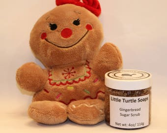 Gingerbread Sugar Scrub, body scrub, gift idea, Sugar Scrub, Foot Scrub, 4oz sugar scrub, 8oz sugar  scrub, 16oz sugar scrub