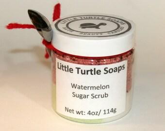 Watermelon Sugar Scrub, body scrub, Watermelon, gift idea, sugar scrub, gift for her, face scrub, foot scrub, Exfoliation sugar scrub