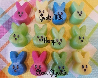 Peep Bunny Soap, colorful, choose your scent, choose your color, handmade, gift idea, easter, bunny soap, goats milk, unisex, easter soap