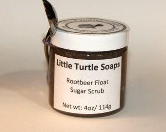 Rootbeer Sugar Scrub, body scrub, rootbeer, gift idea, 4oz sugar scrub,8 oz sugar scrub, 16oz sugar scrub, unisex, face scrub, unisex scrub