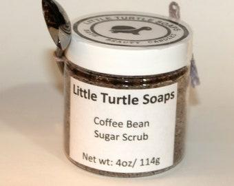 Coffee Bean Sugar Scrub, body scrub, gift idea, coffee exfoliating, 4oz sugar scrub, 8oz sugar scrub, 16oz sugar scrub,coffee lover gift