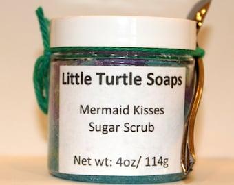 Mermaid Kisses Sugar Scrub, body scrub, Mermaid, gift idea, sugar scrub, gift for her, face scrub, foot scrub, Exfoliation sugar scrub