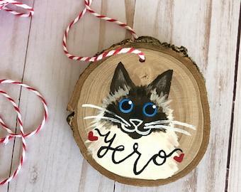 Custom Pet Ornament -  Christmas Ornament - Cat Ornament - Dog Ornament - Pet Memorial