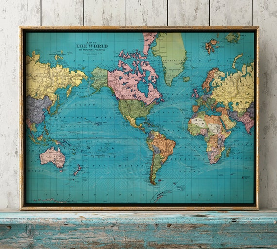World map print world chart astronomy print old school map etsy image 0 gumiabroncs Gallery