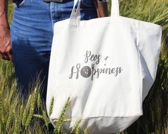 Peas & Hoppiness Fair Trade Certified Reusable Grocery Bag