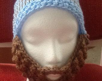Bearded beanie hat, beanies, unique hats, crochet hats