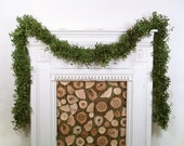 Christmas Garland, Boxwood Garland, Fresh Garland, Sold By The Foot, Custom, Mantle, Mantel, Wedding Decor, Real Greenery, Holiday Decor