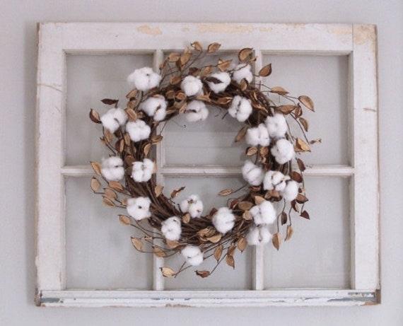 Cotton Wreath Farmhouse Decor Cotton Boll Wreath Farmhouse Etsy