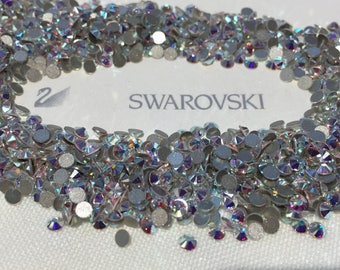 dc0a0b1c3781 Genuine Swarovski Crystal Rhinestones flat back - Crystal Clear AB Sealed Factory  Pack SS30 TO SS48 Swarovski Rhinestones