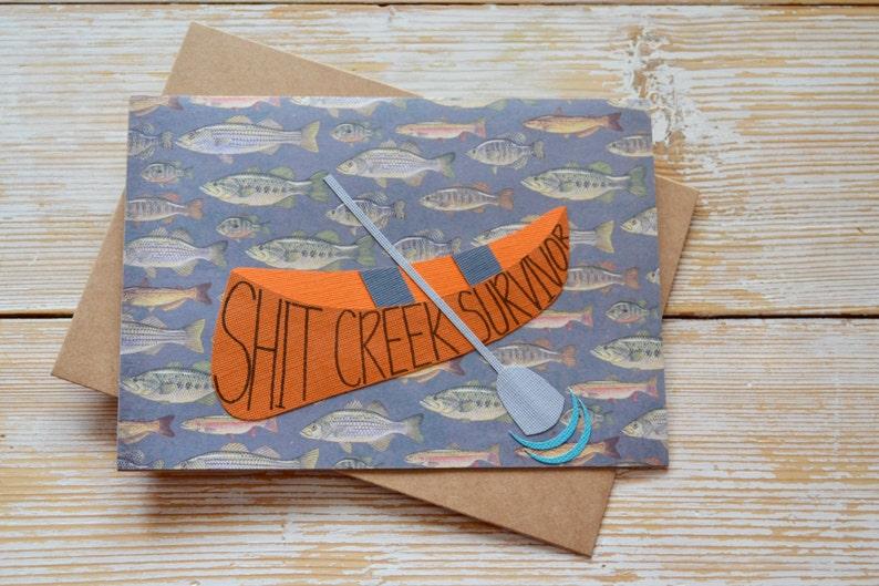Handmade Greeting Card Funny Encouragement Card Encouragement and Support Card Funny Greeting Card