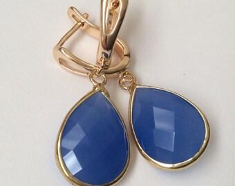 Brass Hoop Earrings,Golden