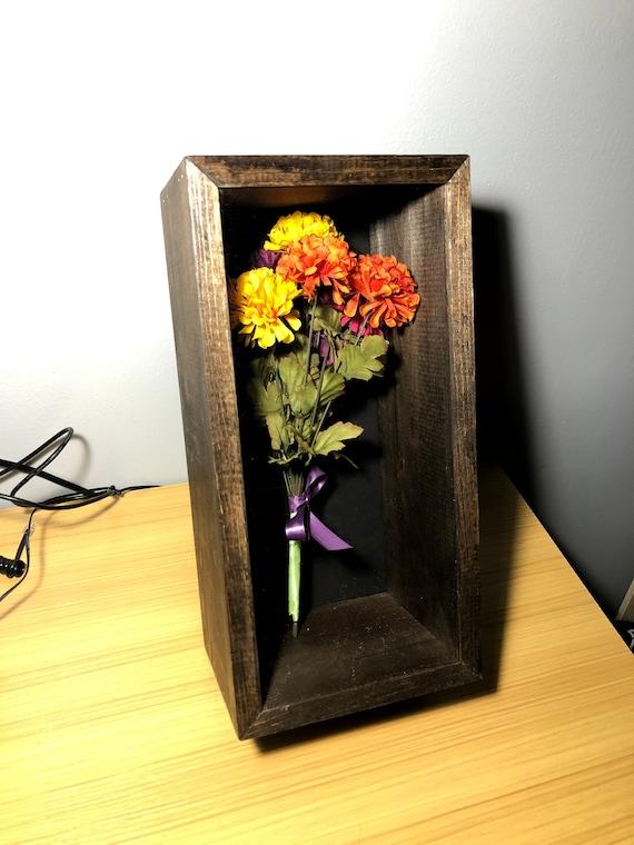 Flower Bouquet Shadow Box Rose Shadow Box Dried Flower Etsy