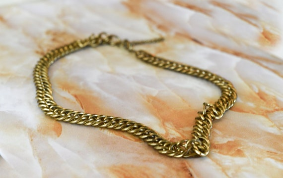 vintage chain necklace | chunky jewelry | 90s acce