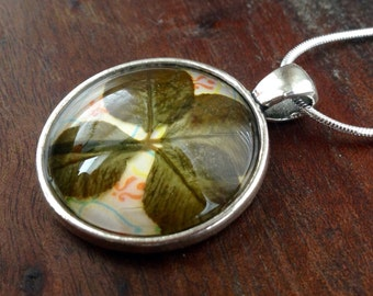 One-of-a-kind four-leaf clover necklace