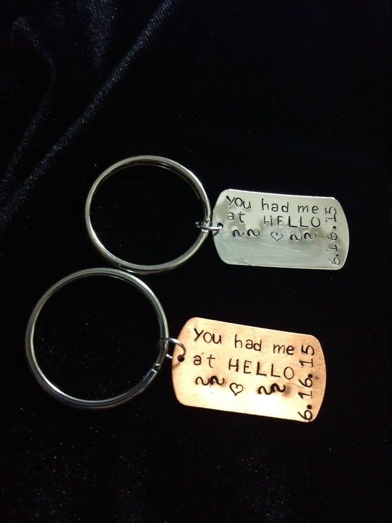 Couples keychains You had me at HELLO