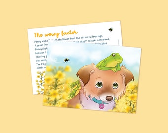 Chiwowy Storytime 1: Chihuahuas, frog, flowers, cute story, childrens story, story card, story book, childrensbook