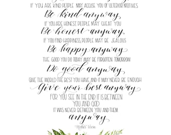 image about Do It Anyway Poem Printable known as Forgive them in any case Etsy