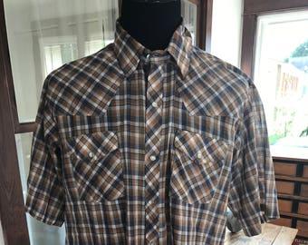 Vintage 1970's Cowboy The Western Shirt