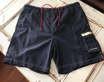 144e9c15047 Vintage 1990's Tommy Hilfiger Swim Trunks Bathing Suit