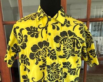 Vintage 1990's Yellow Hawaiian Shirt