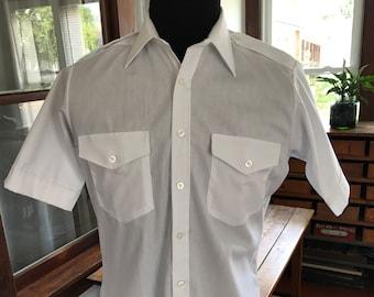 Van Heusen Aviator Short Sleeve Dress Shirt
