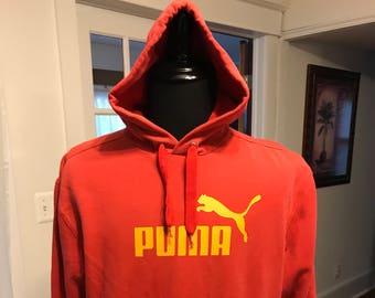Puma Red Hooded Sweatshirt