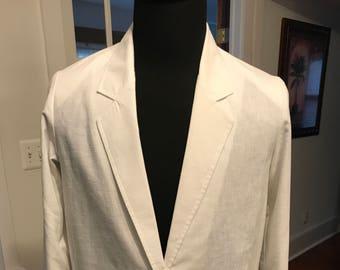 Vintage 1980's light Blazer Jacket Cotton